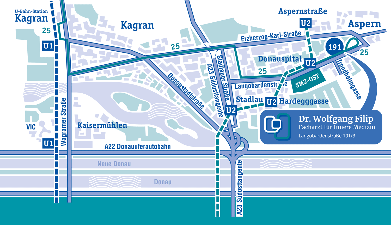 Karte für Anfahrt